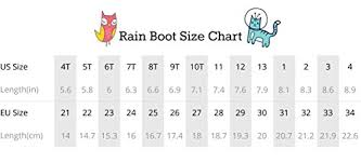 Rains Size Chart Lone Cone Childrens Waterproof Rubber Rain Boots In Fun