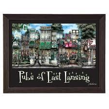 east lansing mi by brian mckelvey frame poster painting print