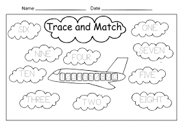 Kindergarten Worksheets Maths Match The Numbers Number Free ~ Koogra