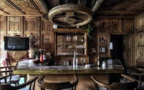 ... Old fashion wood bar ...