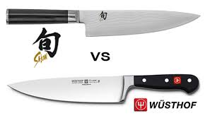 Kitchen Knife Comparison Chart Shun Vs Wusthof Kitchen Knives Compared With Pictures