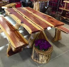 rustic furniture pics. Rustic Cedar Picnic Table Furniture Pics 0