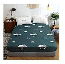 KFZ Flower Leaf Printed Fitted Sheet Bedsheet Bed ... - Amazon.com