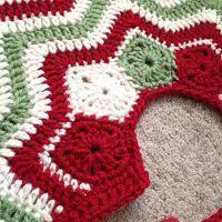 Christmas Tree Skirt Crochet Pattern Adorable Chic Christmas Crochet Patterns Free Christmas Tree Skirt Crochet