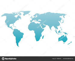 Map Of The World Background World Map Silhouette Vector Blue Gradient Isolated On White