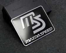 mazdaspeed emblem. black ms mazdaspeed aluminium car trunk emblem for mazda accessories badge mazdaspeed