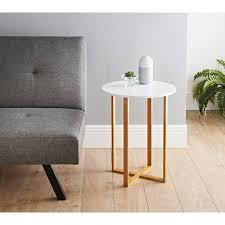 344875 bjorn round side table white