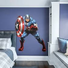 captain america marvel s avengers assemble life size officially licensed removable wall decal fathead