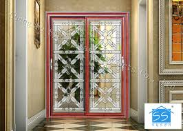 building clear beveled glass window panels door acid etched sound insulation