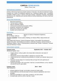 28 Beautiful Mechanical Engineering Resume Examples Example Design