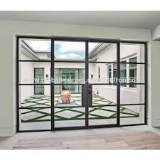 china exterior steel french folding door and window simple design with tempered glass