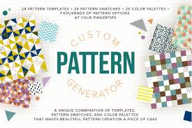 Pattern Generator Impressive Custom Pattern Generator Graphic Patterns Creative Market