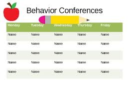 Individual Student Conference Chart