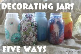 You can decorate mason jars in so many ways - paint, Mod Podge, and