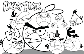 Free Printable Bird Coloring Pages Angry Birds Coloring Sheets Free