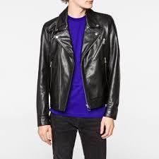 s men s black heavyweight leather biker jacket ing well larger image