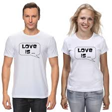 """<b>Футболки парные</b> """"любовь"""" #2552641 от madam - <b>Printio</b>"""