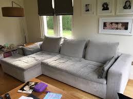 The Living Room Furniture Glasgow Boconcept Corner Sofa With Wooden Armrest Table In Southside