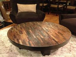 furnitures rustic round coffee table fresh reclaimed wood on modern storage ottomans urban rustic reclaimed along