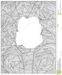 Passi La Struttura Di Pagina Adulta Non Colorata Geometrica