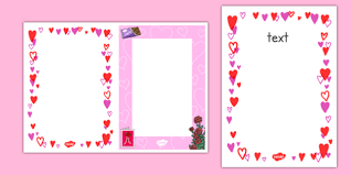 Editable Valentines Day Card Insert Template Editable Valentines Day
