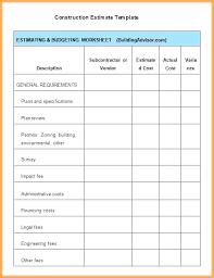 Home Construction Estimator Excel Building Budget Template Building Costing Template Building