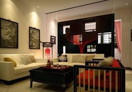 Chinese Living Room Decor by retro style