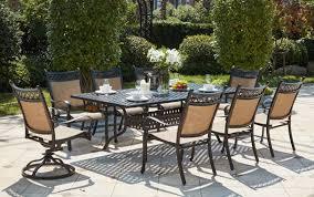 patio furniture dining set cast