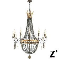 bocci chandelier replica flower 3 light antique white hanging for 4 pendant