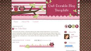 Cute Template Cute Pink Owl Blog Template For Blogger Owl Dorable