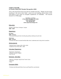 Resume Template For No Work Experience Resume Template Without Work