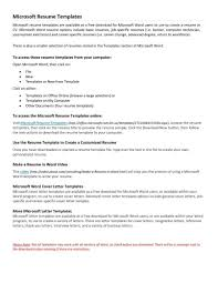Template Cover Letter Free Chronological Resume Template Microsoft
