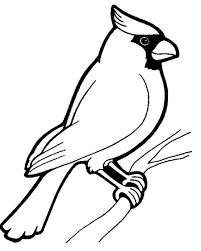Cardinal Coloring Sheet Classroom Bird Coloring Pages Animal