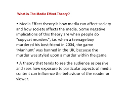 media effects essay 2 • media