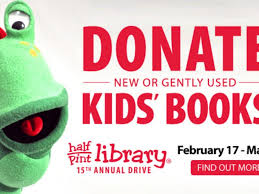 half books encourages mentor munity to donate children s books to local book drive