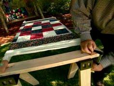 HGTV's Alex Anderson shows how to build your own diy quilt frame ... & Make your own quilt frame for hand quilting with this easy how-to. From Adamdwight.com