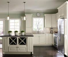 kitchens with white cabinets and green walls. Interesting Cabinets Modern Kitchen With Offwhite Cabinets And Kitchens With White Cabinets Green Walls L