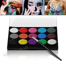 xpion water based face paint palette 15 colors non toxic kids safe face body painting