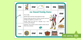 This worksheet, designed for first and second graders, supports. Ow And Ou Sound Family Game Teacher Made
