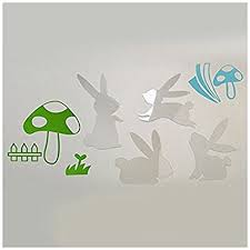 Kids Bedroom Wall Murals Unique Amazon SODIALR Mirror Wall Art Rabbit Wall Stickers Removable