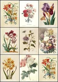 vintage flower sheets artbyjean paper crafts vintage flower prints on digital collage