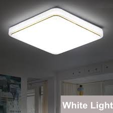 led square ceiling down light 1000lm flush mount home fixture lamp white light 12w