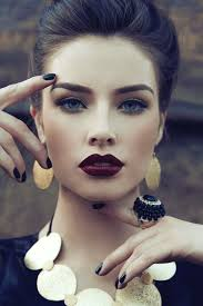 dark red lipstick