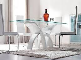 white modern dining room sets. Modern White Dining Room Table Grey Blue And Minimalist Glass Tables Sets
