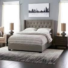 rug under king bed modern in bedroom 8x10