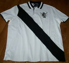 nwt polo ralph lauren 125 boathouse white rugby shirt l black diagonal stripe