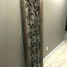 brown metal flower wall art rustic decor wood and fl hobby lobby gold
