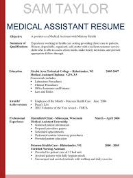 Medical Assistant Resume Template Free Extraordinary Resume Templates Medical Assistant Resume Template Free Summary Of