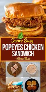 Easy Popeyes Chicken Sandwich, Homemade! - In the event you have been  craving fried … | Homemade chicken sandwich, Chicken sandwich recipes,  Chicken burgers recipe