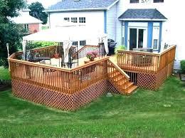 wood deck ideas 2 level deck designs 2 level deck design ground level deck ideas wood deck kits for above ground pools